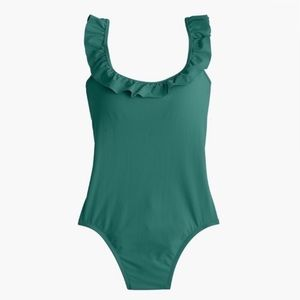J. Crew Ruffled Scoopback One-piece Swimsuit NWT